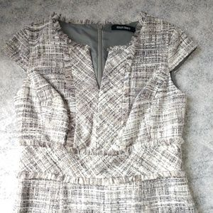 Ellen Tracy Tweed cap sleeve dress size 4